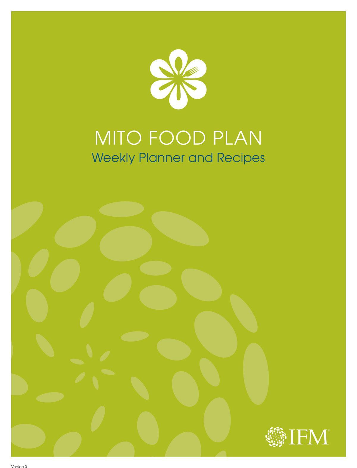 Core Food Plan Weekly Planner