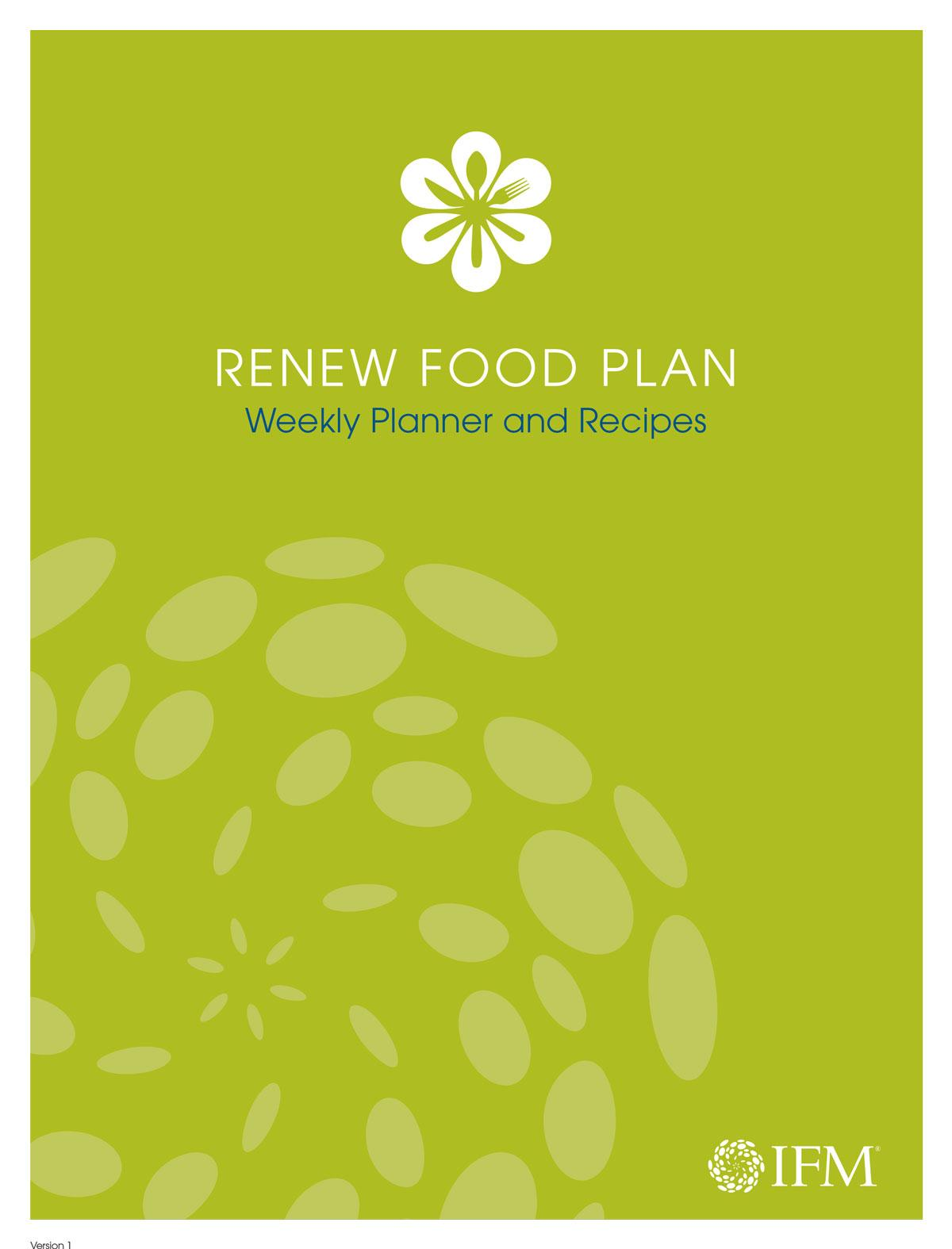 ReNew Food Plan Weekly Planner